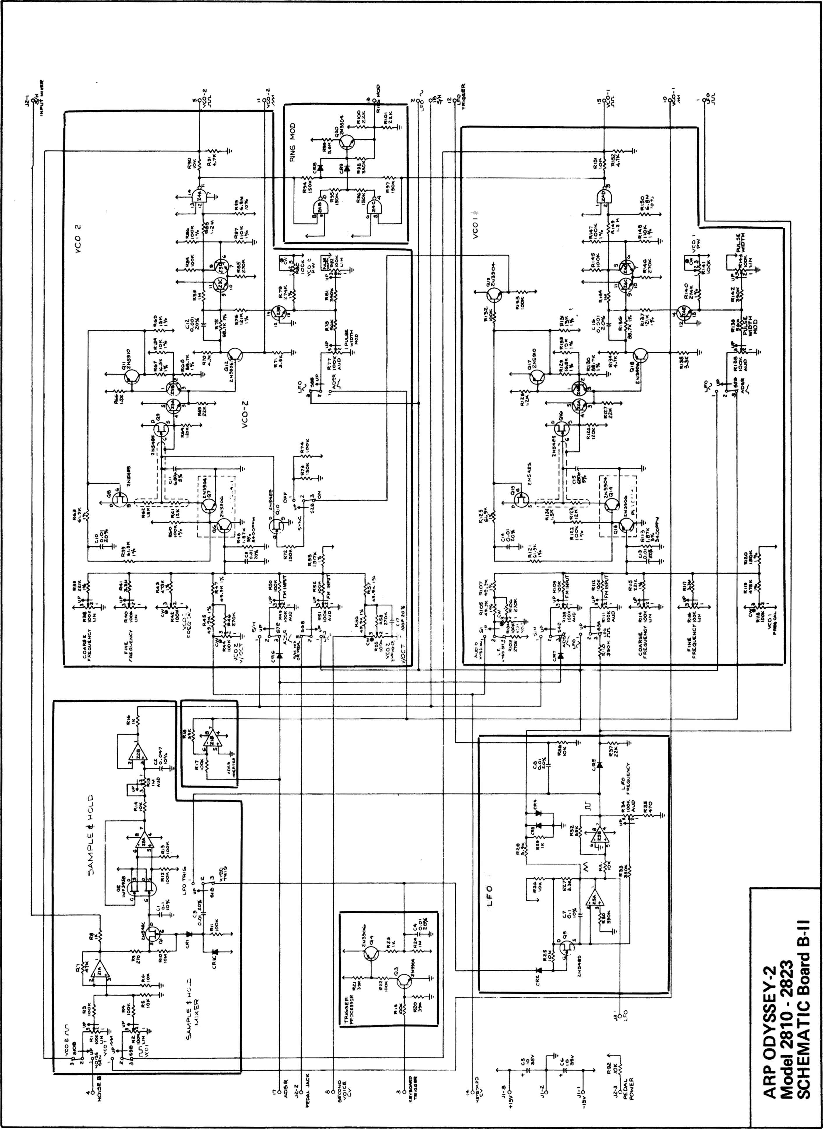 arp odyssey model 2800 schematic board bl