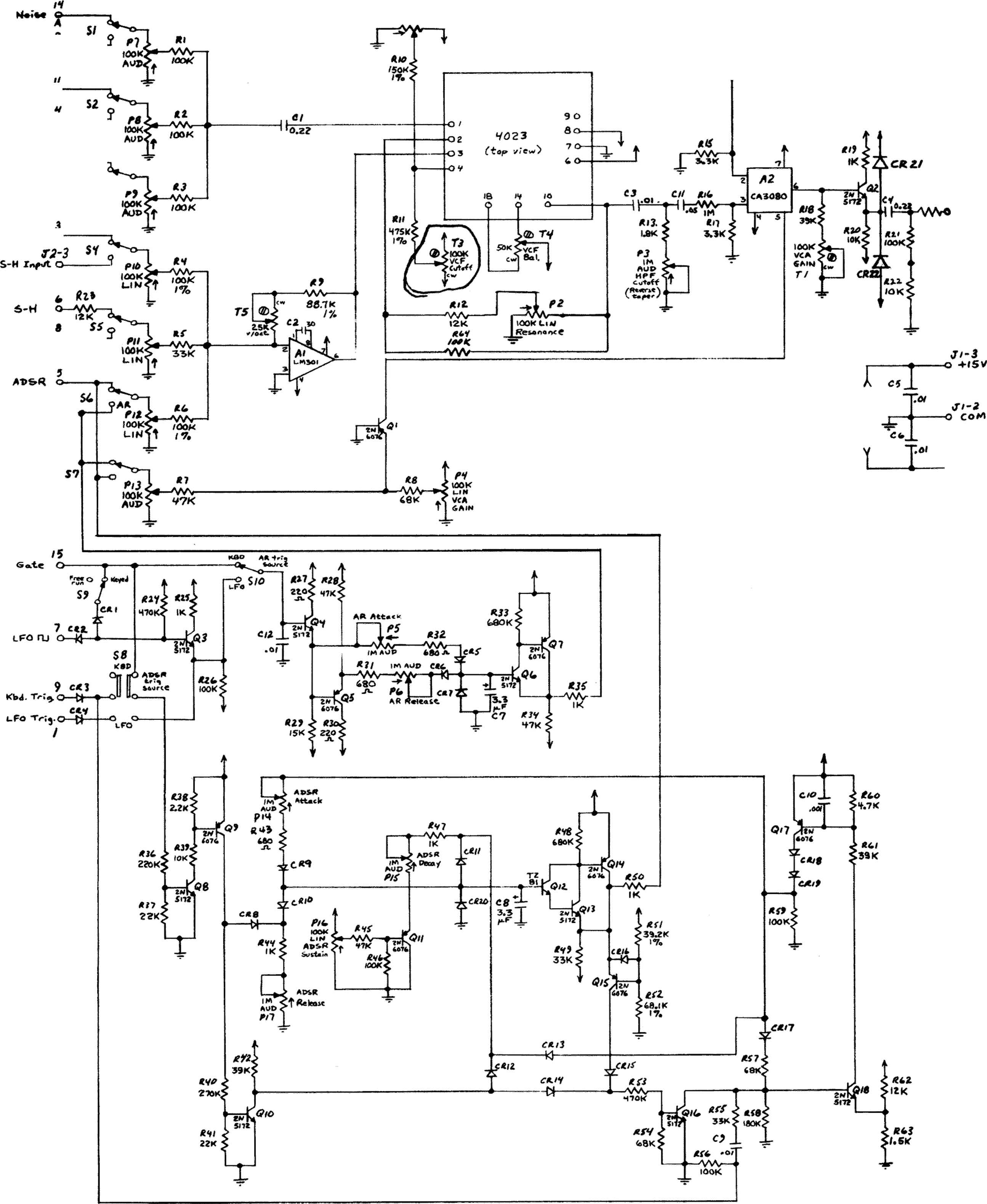 Arp Odyssey Model 2800 Schematic Board Bl on Hammond Organ Schematic Diagrams