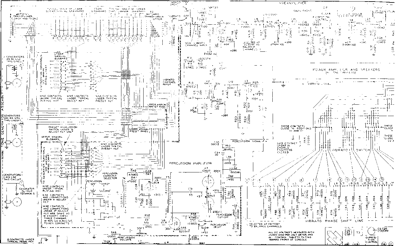 Hammond Rt3 Organ Schematic Diagrams  Hammond Organ