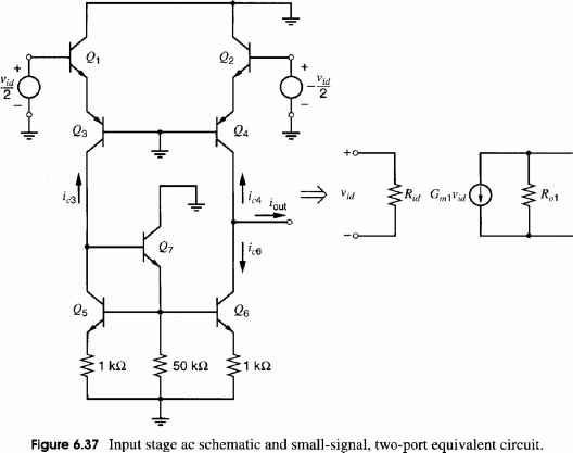 682 small signal analysis of the 741 operational amplifier