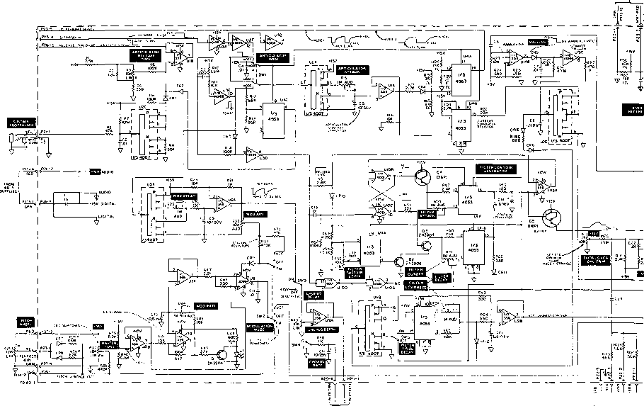 Moog 2110 Block Diagram - Moog Opus - Raynet Repair Services