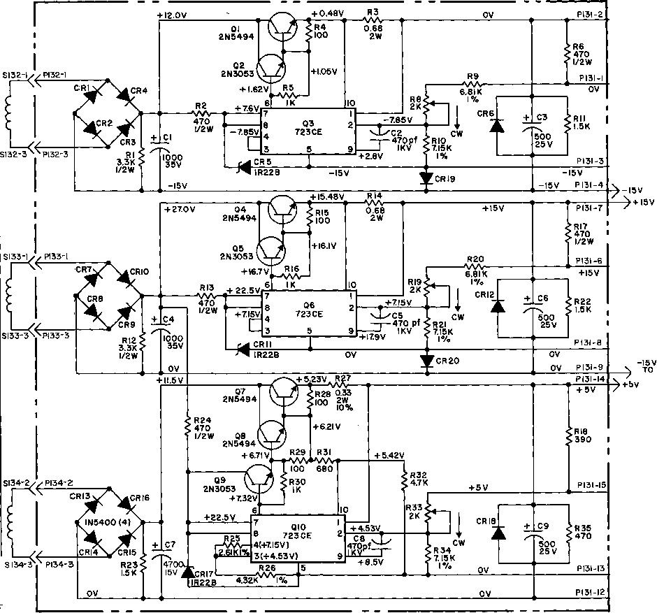 Moog Synthesizer Psu Circuit Diagram