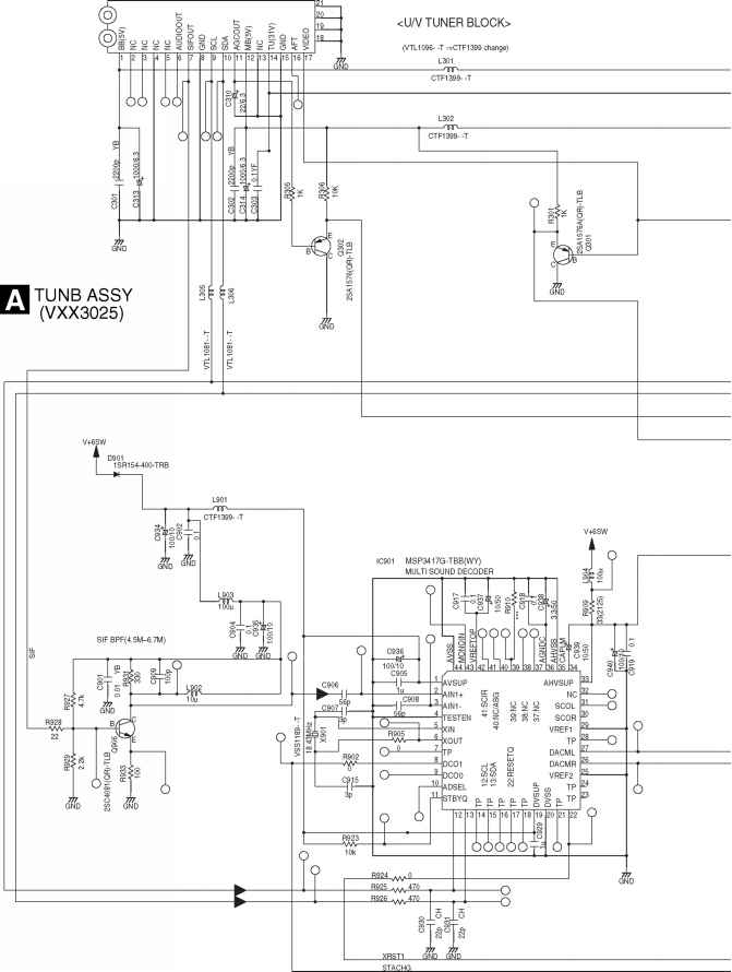 Korg Tr61 Power Supply Schematic Diagram
