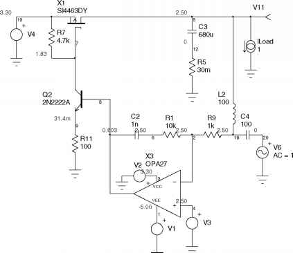 Low Dropout Linear Regulator - Switchmode Simulation